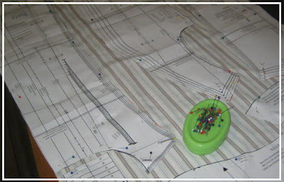 Pinning pattern pieces for cutting