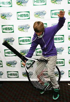 Bieber Rides Tennis Racket