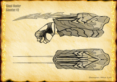 異形戰場1終極戰士腕刀的設計圖