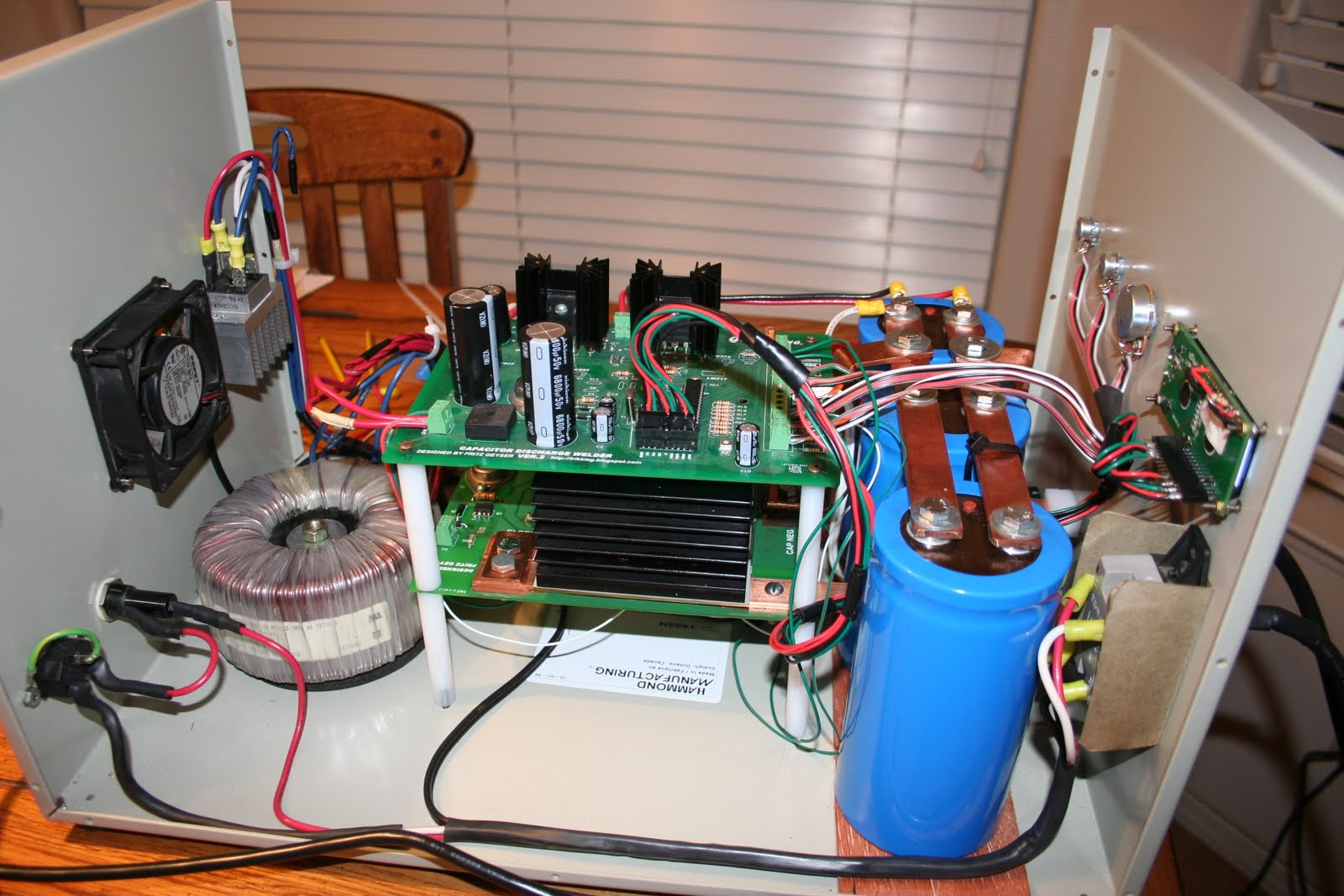 Homemade 600ws Capacitor Discharge Welder New Spot Controller Board Pcb Without Components