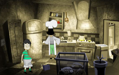 Doctor KU - The Kitchen walkthrough, solution, cheats, hints, tips, tricks, passwords, codes, help, guide, and comments