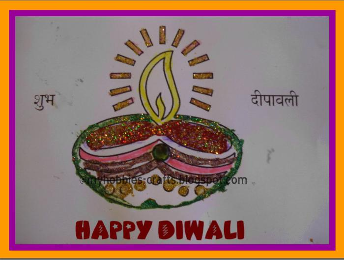 Diwali Greeting Card Making Ideas Part - 37: Handmade Diwali Greeting Cards