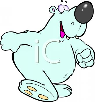 Cartoon Polar Bear clipart image
