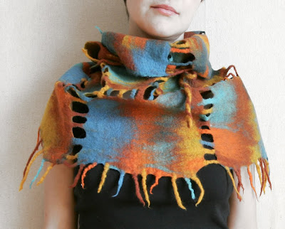 fashion scarf, felt, felted, felting, scarf, wet felted, wool scarf