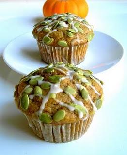 Pumpkin pepita muffins