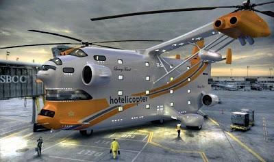 Helikopter Yang Membawa Hotel Bintang Lima Terbang