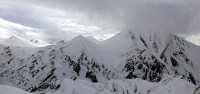 Palandöken Dağı en yüksek noktası Büyükejder Tepesi