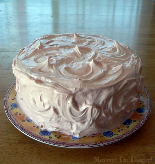 MIH Recipe Blog: Homemade White Cake with Fluffy Frosting