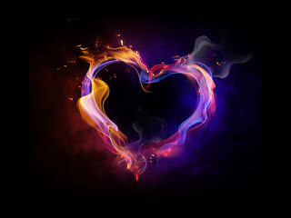 Fire Heart Abstract Love Colors Darck Love HD Wallpaper