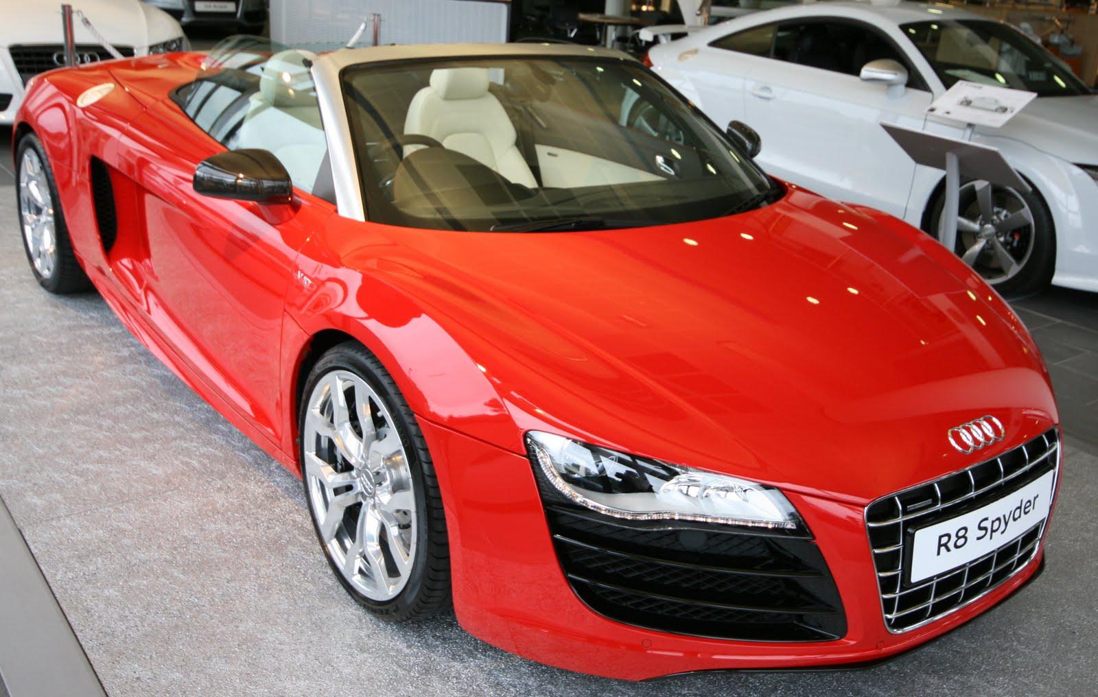 Displaying 11 gt  Images For Audi R8 Red Spyder on Red Audi R8 Spyder