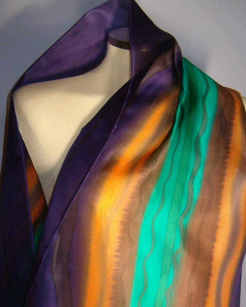 Foulard Seda Pintada - Blog: http://sedania-arte-textil.blogspot.com.es/