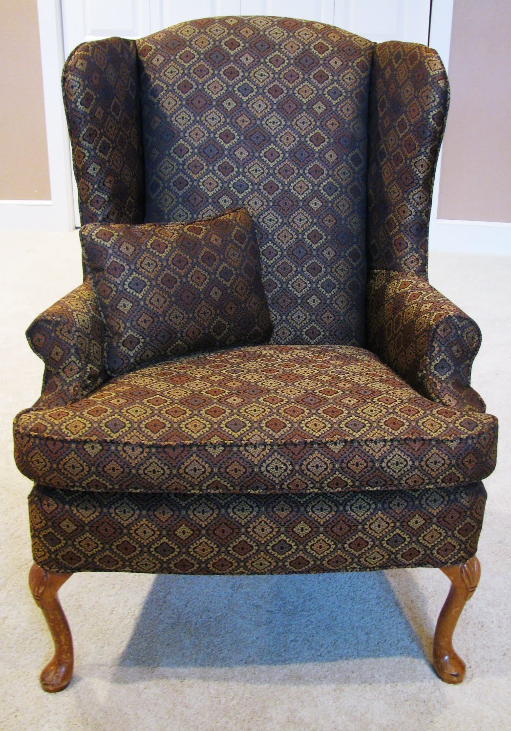 The slipcover network forum 1st slipcover for a wing chair for Furniture slipcovers for wingback chairs
