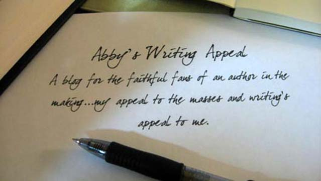 Abby's Writing Appeal