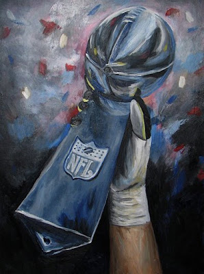 Lombardi Trophy Painting by Abi Cushman
