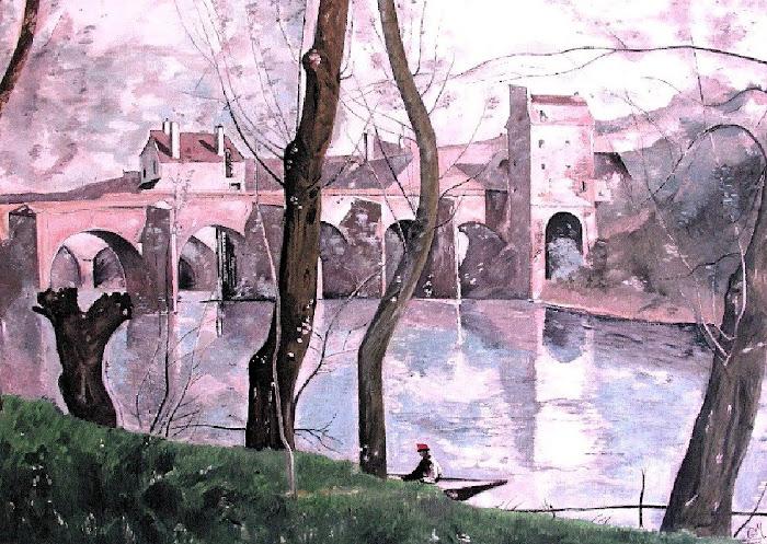Le pont de Mantes - 1870