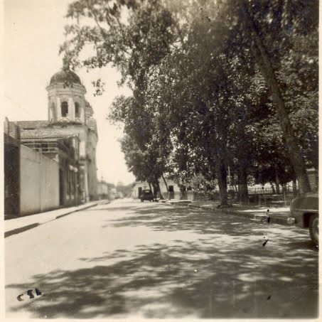Guacara su Iglesia y su plaza año 1948