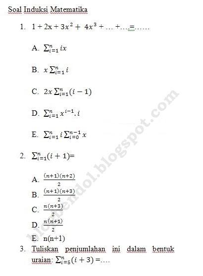 Hot Tips Soal Induksi Matematika