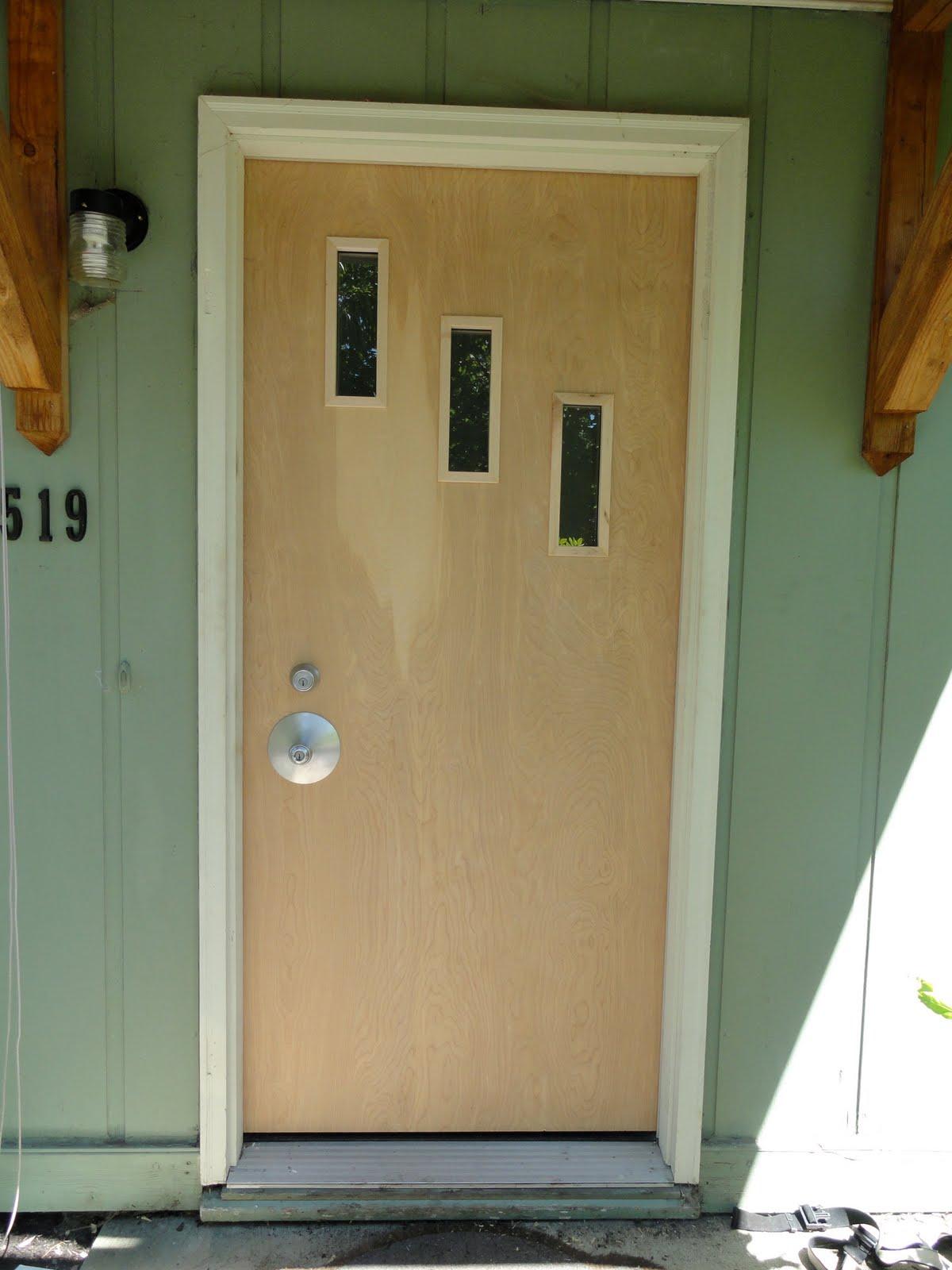 1600 #613C0E Mid Century Modern Front Door Hardware Naked Door. picture/photo Mid Century Front Doors 44391200
