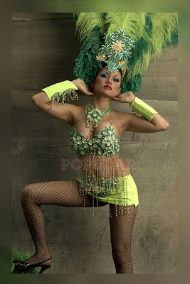 Indonesian Model on Sexy Green Dress