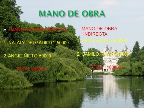MANO DE OBRA ( DIRECTA, INDIRECTA)