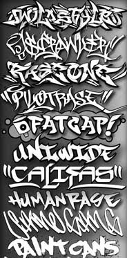 Cool Alphabet Graffiti Fonts Art Design