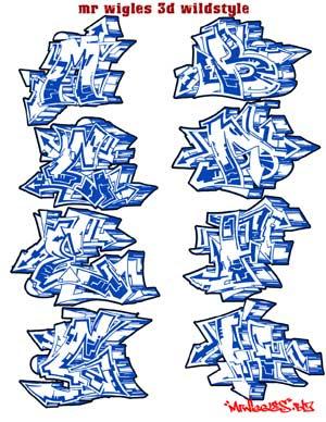 graffiti alphabet is one