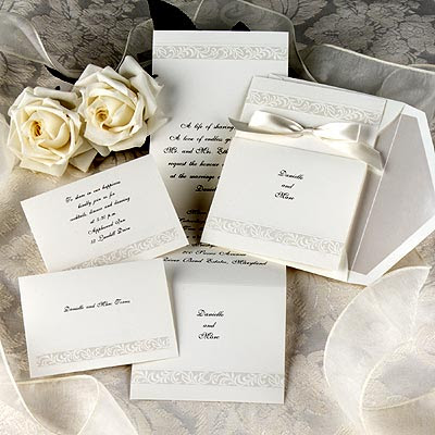 wedding invitations with pattern