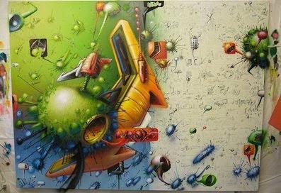 Amazing 3D Murals Graffiti Dangerous Virus Style