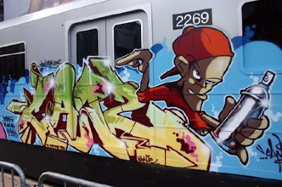 graffiti trains, graffiti alphabet