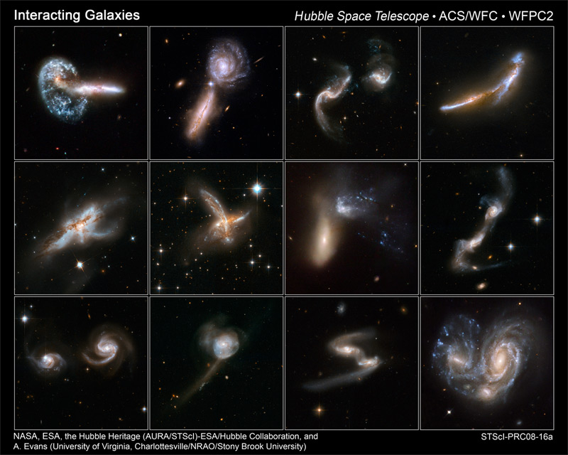 of galaxies colliding.