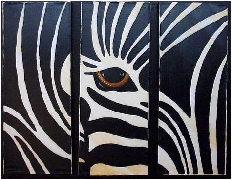 Pinturas de cebras imagui - Cuadros de cebras ...