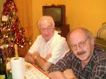 Mi tío y yo en la Navidad del 2007