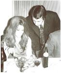 """Eramos casi unos """"niños"""";1971, junto a Susana Giménez en una cena en el Club de Golf de Bahía."""