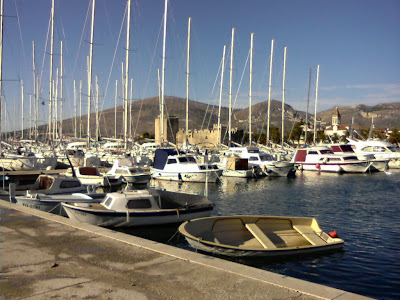 La marina de Trogir, prs de Split