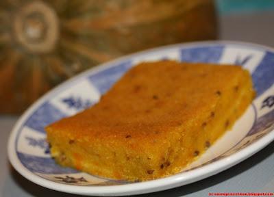 Gâteau crémeux au potiron