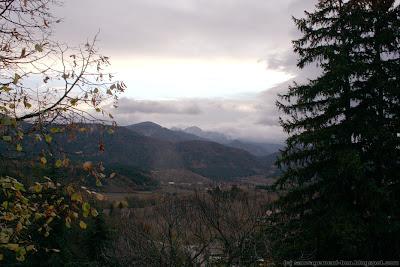 Vue des 3 Becs depuis les hauteurs du village d'Aurel, au fin fond de la Drôme