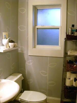 Antes y después: pintando la pared del baño
