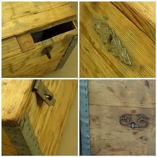 restaurar un baúl, Antes y después de un baúl, restauración