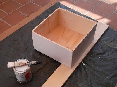 antes y después, caja de vino, reciclado, reciclaje, hecho a mano, caja pintada