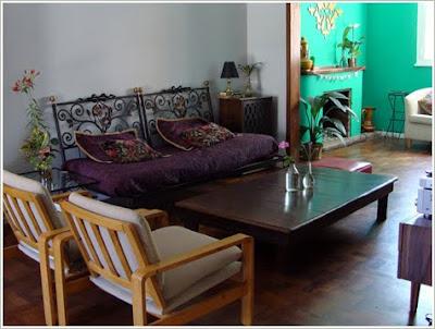 en casa de, decoración, casas, aguamarina