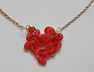 Red blood cells necklace