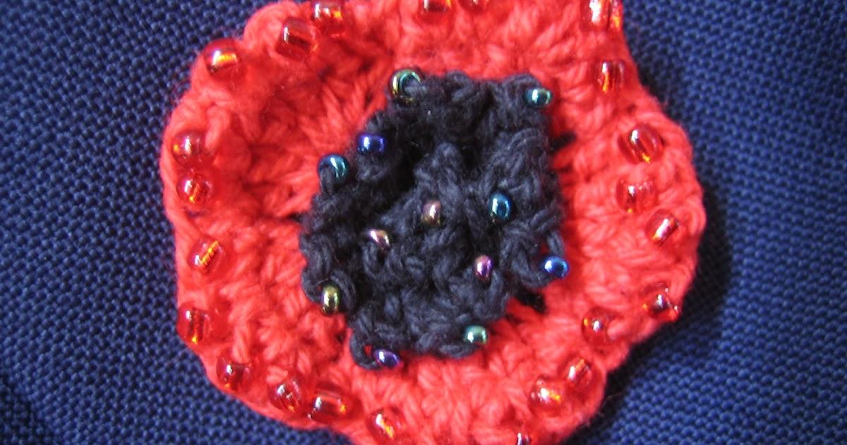 crochetroo: ANZAC Poppy - free crochet pattern