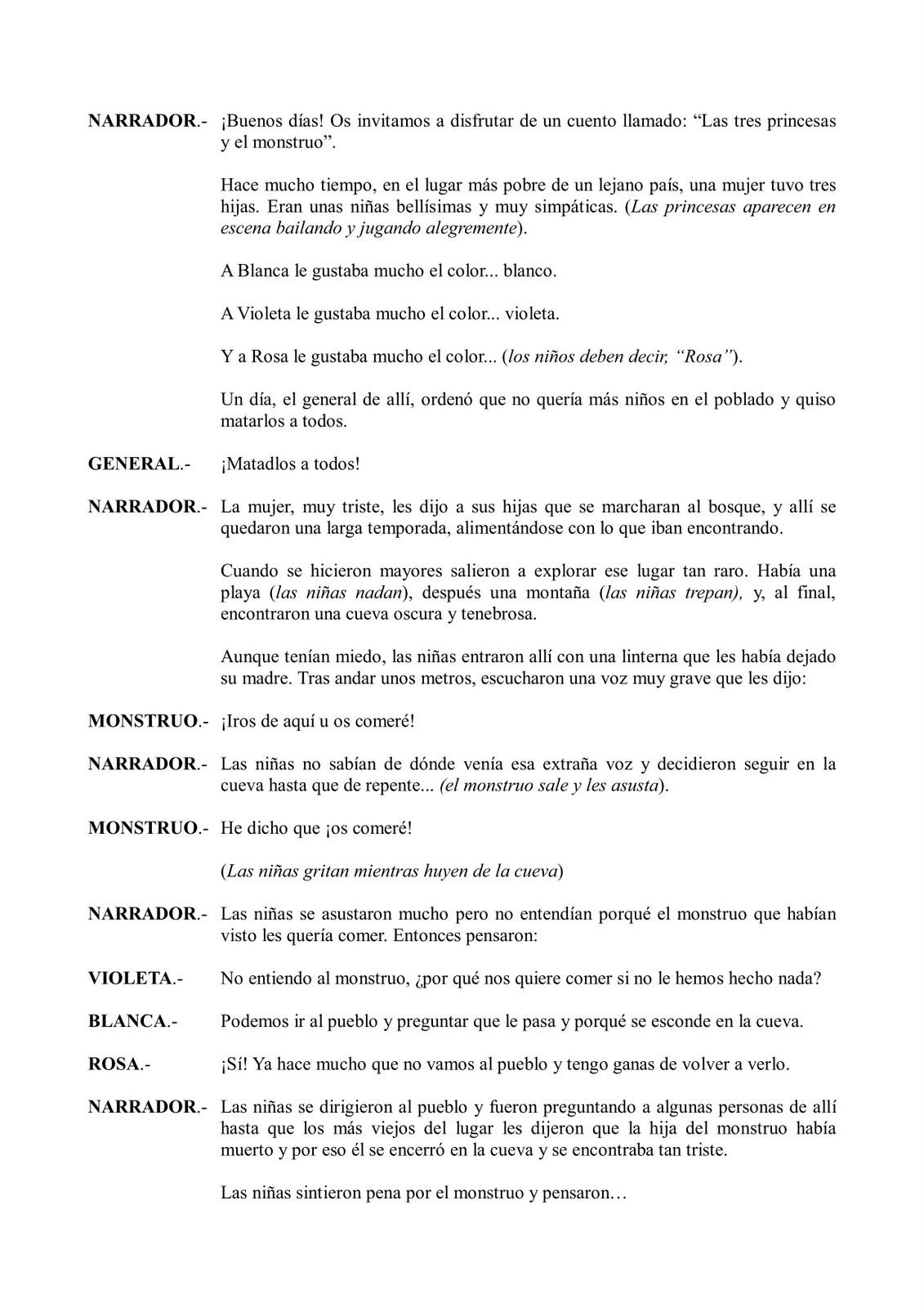 Tercero de Primaria - C.E.I.P. Monteolivo: Teatro de la clase