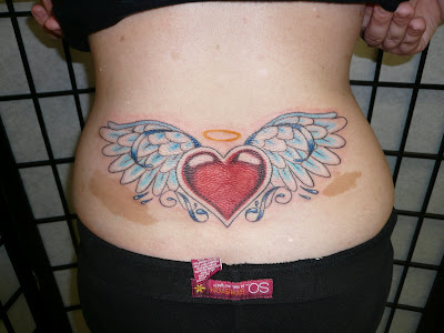 Beautiful Nice Love Tattoo Designs Specially Heart Lower Back Tattoos Pictures