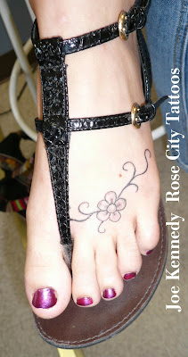 tattoo on foot