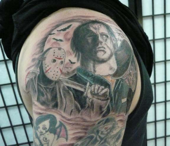 Michael myers and jason tattoo