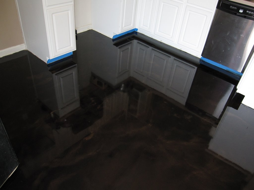 Epoxy Kitchen Flooring Epo Floors Nashville Kitchen Metallic Epoxy