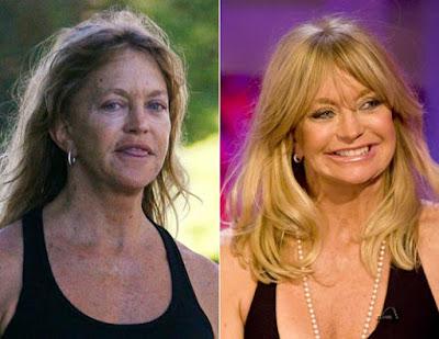 Atriz Goldie Jeanne Hawn SEM MAQUIAGEM