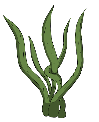 Cartoon Seaweed Clipart 2D Game Design: Octobe...