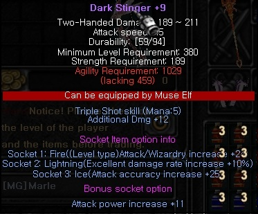 My best socket option for pvp